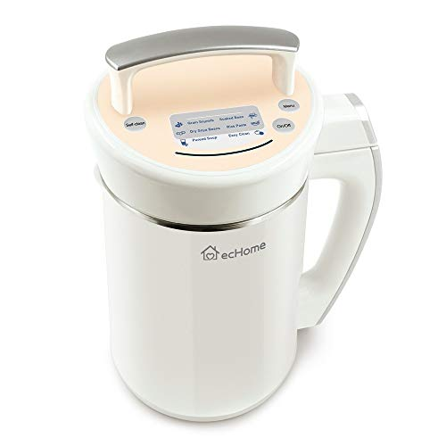 ecHome Automatic Multifunction Stainless Steel Free Filter Soup Soy Milk Rice Cereal Congee Maker Soup Maker