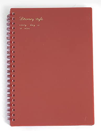 GJST Libretas Espiral, Espiral Premium, Cuaderno A5 21 x 14 cm, 160 páginasRed