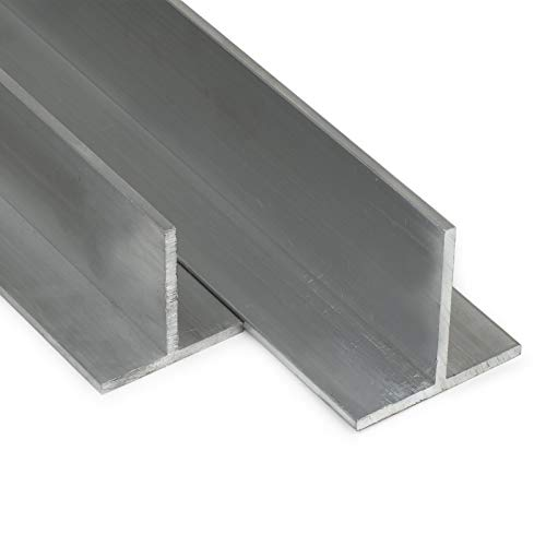 Aluminium T-Profil AlMgSi05 | BxHxS 50x50x4mm | L: 750mm (75cm) auf Zuschnitt