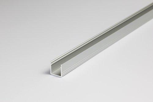 "LED-Aluminiumprofil ""Tierno"", weiß lackiert, transparente Abdeckung (LED Alu Profil, Alu LED Profil, LED Profil)"