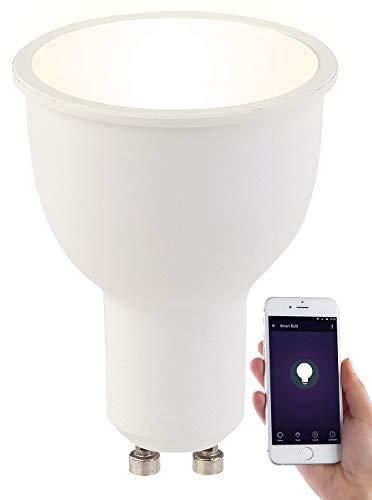 Luminea GU10Lampe: d'ampoule LED GU10, Alexa Voice Service WiFi Komp., lampes LED Blanc chaud, 4,5, A + (GU10avec applications, compatible avec Alexa Voice Service)