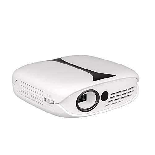 BOXIANGY Proyector para el hogar teléfono móvil inalámbrico WiFi Micro proyector HD 1080P teléfono Blanco con versión de Pantalla