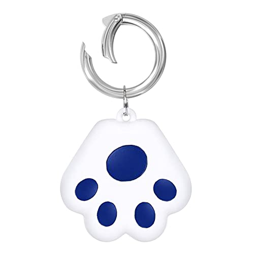 GenericBrands Mini Cat Dog GPS Tracking Locator Prevention Anti-Lost Waterproof Portable Bluetooth Tracker for Luggages Kids Pets Cats Dogs Wallet Key Collar Accessories (Dark Blue)