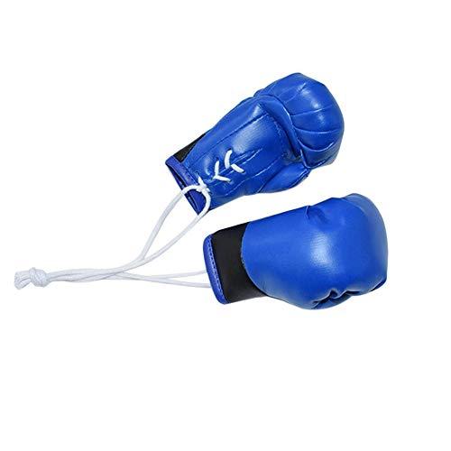LSGGTIM Un Par Mini Guantes De Boxeo, Gloves Guantes Gadget Boxeo Llavero Boxeo,Colgante Interior del Coche De Los Guantes De Boxeo,(Azul)