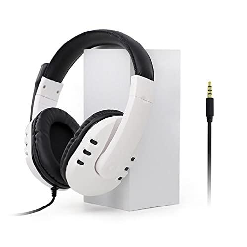 Yuwe Auriculares para juegos con cable, PS4 / PS5, Auriculares para juegos, Auriculares estéreo envolventes para juegos de 3.5 mm con micrófono Orejeras de memoria suave para PC, computadora portátil,