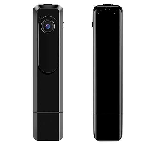 Minicámara con dictáfono para presentaciones, cámara oculta de espionaje, cámara de clip portátil con Full HD 1080P lateral para interior y exterior