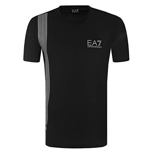 Emporio Armani Maglietta T-Shirt Uomo EA7 3ZPT70 PJ02Z, Manica Corta, Girocollo (Nero, L)