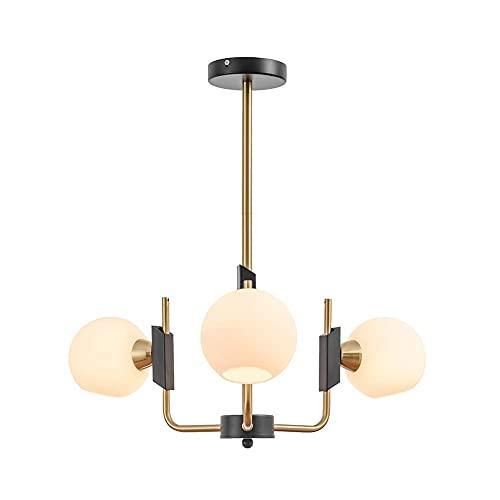 HLY Lámpara de araña simple, lámpara colgante, lámpara de techo, lámpara de techo, moderno Sputnik, 8 s, colgante Ing Mid Century, accesorio de hierro industrial para comedor, sala de estar, ámbar pl