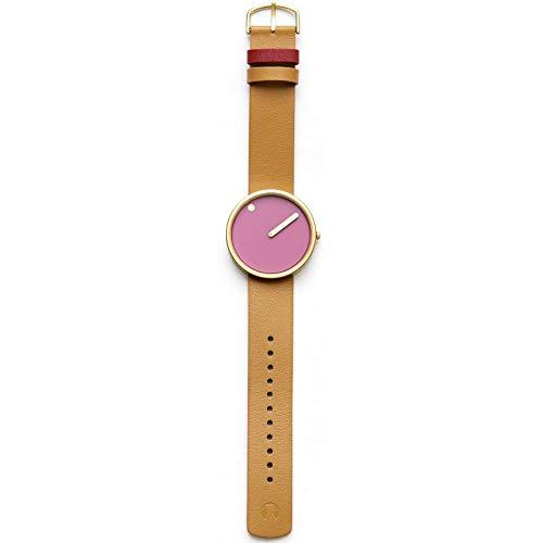 Rosendahl Watch - PICTO Leather - Pink/Tan