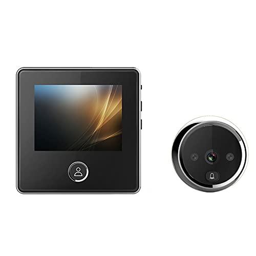 Video Timbre Digital, Visor De Puerta Frontal Mirilla Cámara De Seguridad Monitor con Gran Angular De 120 °, Visión Nocturna por Infrarrojos Fácil Instalación para Hotel De Oficina