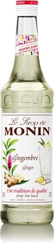 MONIN - Sirop de Gingembre pour Cocktail et Chocolat Chaud - Arômes Naturels - 70cl