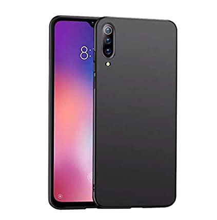 "LAYJOY Funda Xiaomi Mi 9, Ligera Carcasa Silicona Suave TPU Gel Bumper Case de Protectora [Antideslizante] [Anti-Golpes] Cover Caso para Xiaomi Mi 9 (2019) 6.39"" -Negro"