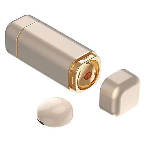 MagiDeal Auricular Individual, Auricular Bluetooth Más Pequeño, Auricular Bluetooth Invisible, con Micrófono, Auricular Inalámbrico Manos Libres de de - Piel