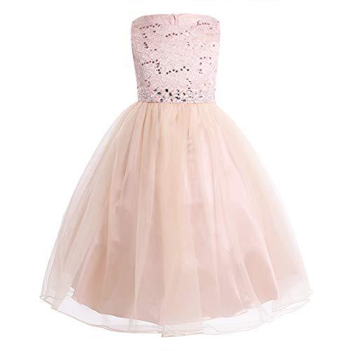 CHICTRY Kinder Mädchen Kleid festlich Lange Brautjungfern Kleider Hochzeit Blumenmädchenkleid...