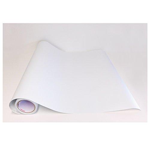 Adzif.biz Le sticker de decoration Rouleau adhésif - Papier Peint Autocollant Blanc Mat (5 m x 123 cm)