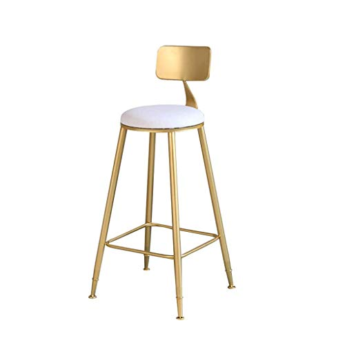Living Decoration Bar Stools Bar Chairs breakfast bar table Bar Stools Seat Breakfast Bar Counter Kitchen Chairs Metal Legs Barstools High Stools With Backrests & Footrests For Home &