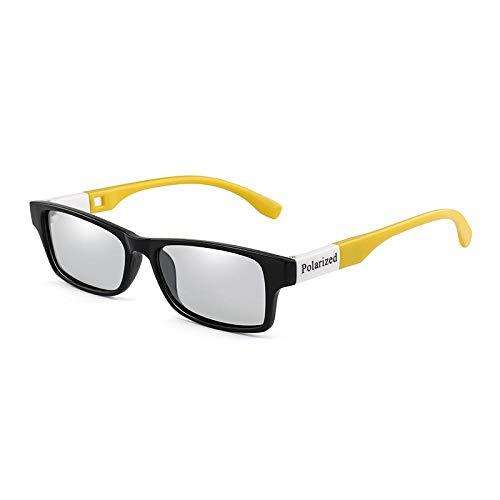 OcchialidaSoledaUomo Occhiali da Sole Fotocromatici Polarizzati Uomo Vintage Rettangolo Camaleonte Occhiali da Sole Occhiali da Vista Driver Uv400 Nero Giallo Giallo