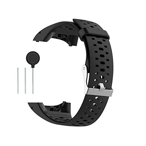 Kokymaker Reemplazo Correa Ajustable para Polar M400 / M430 Reloj Pulsera de Repuesto Banda de Deportes Correa de Silicona (negro)