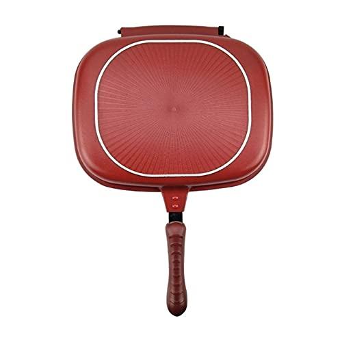 Yinyimei sarten Antiadherente Pan de Doble Cara, Cacerola de Dos Caras de Dos Caras, no Palanca para Hornear para Hornear portátil para Cocina de Cocina para casa (Color : 32cm)