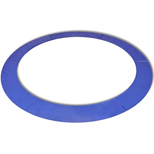 Tidyard Alfombrilla de Seguridad de Cama elástica Redonda 3,05m Azul PE