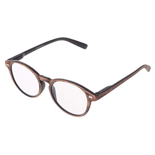 Retro imitatiehout leesbril voor vrouwen mannen Presbyopie stralenbril 1.0 1.5 2.0 2.5 3.0 3.5 4.0 Unisex