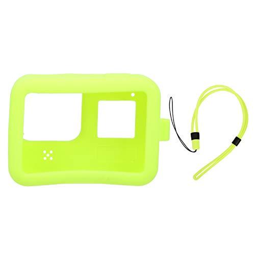 Goshyda Funda Protectora de Silicona para cámara, Carcasa Protectora Suave para Gopro hero8(Verde)