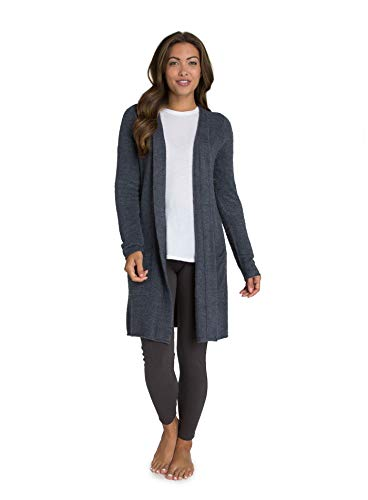 Barefoot DreamsCozyChic Lite Santa Monica Cardi, Heathered, Pacific Blue, Medium