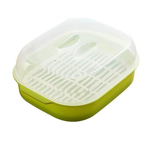 G.Y.X 1pc Bollos al Vapor Vapor Microondas Horno Vapor Caja Redonda de la Cocina al Vapor Cocina la Herramienta Color al Azar