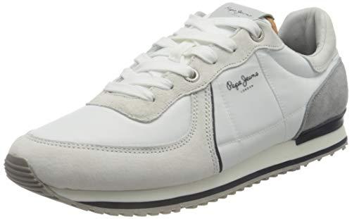 Pepe Jeans Herren Tinker City 21 Sneaker, 801FACTORY White, 42 EU