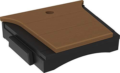 LuxCraft Balcony Tete-a-Tete Table (Premium - Antique Mahogany on Black)