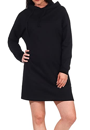Only Onldreamer Life Sweat Hood Dress Swtnoos Vestido, Negro, XL para Mujer