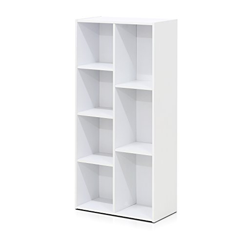 Furinno 7-Cube Reversible Open Shelf, White
