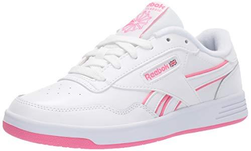 Reebok Women's Club MEMT Sneaker, White/Pink/White, 8