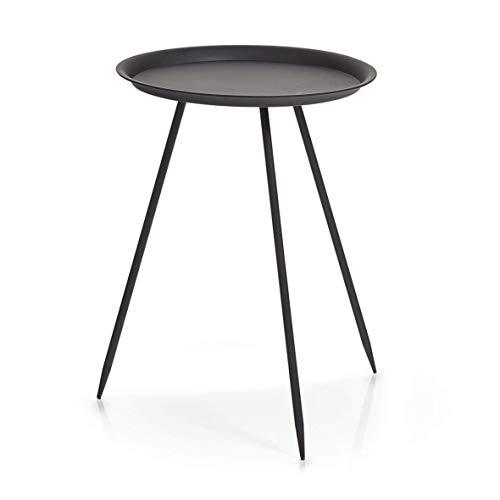 Zeller 17005 tafel, metaal, zwart, ca. 39 x 39 x 53,5 cm