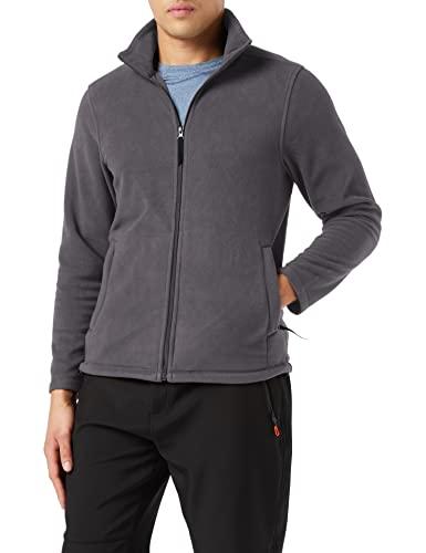 Regatta Chaqueta de microforro polar con cremallera completa para hombre, talla XXXXL, color gris