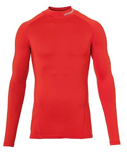 uhlsport Distinction Pro Baselayer Turtle Neck T-Shirt Thermique pour Homme L Rouge