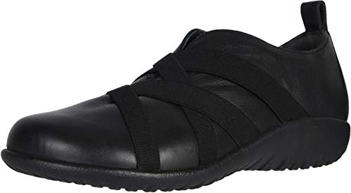 NAOT Footwear Women's APER Slip On Shoe Soft Black Leather 8 M US