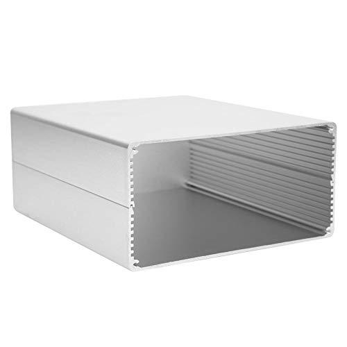 Silber Aluminium Projekt Box, langlebige stabile schöne Aussehen elektronische Gehäuse Gehäuse, für elektronische Produkte PCB Junction Aluminium Box