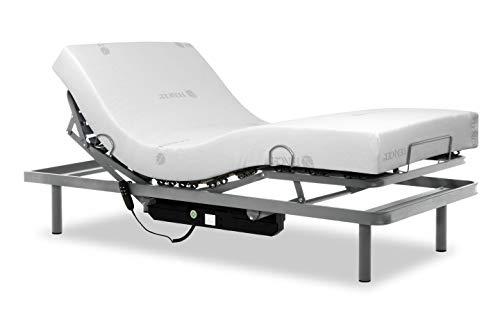 Gerialife Pack Cama articulada Reforzada 5 Planos con colchón viscoelástico Tencel   Fabricado en España (105x190, Mando con Cable)