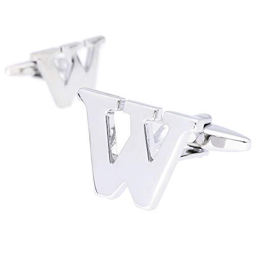 HAVILAH MODE カフス アルファベット カフスボタン cufflinks 結婚式 【アルファベット W】 おしゃれ プレゼント 父の日 誕生日
