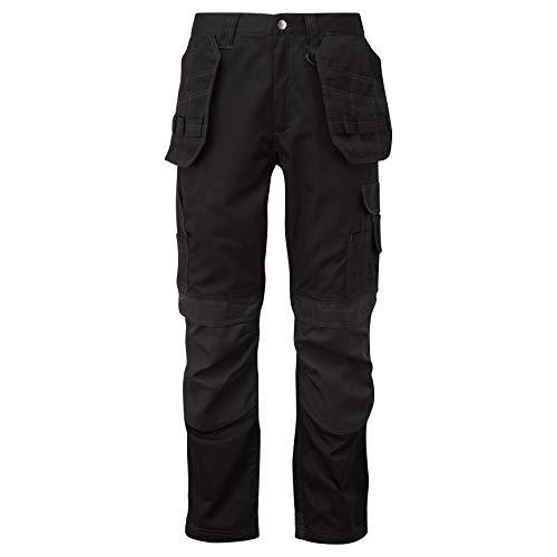 Oswin Herren Arbeitskleidung Arbeitshose Cargo Multi-Taschen mit Kniepolstertaschen Halbelastische Taille Cordura - Render PRO - 52 Länge Medium