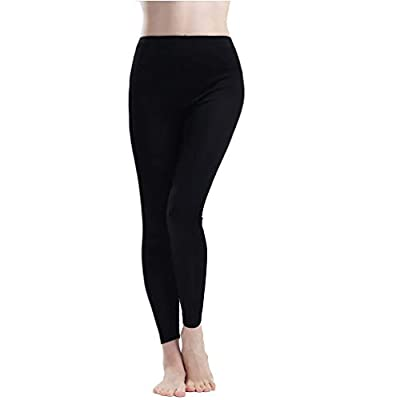 Paradise Silk Pure Silk Knit Women Underwear Long Johns Bottom Only[US14,Black] from
