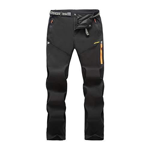 LY4U Pantalones para Caminar al Aire Libre para Hombres, Pantalones Ligeros, Transpirables, de Secado rápido, Escalada, Trekking, Pantalones Casuales, Bolsillo con Cremallera para Todo el año