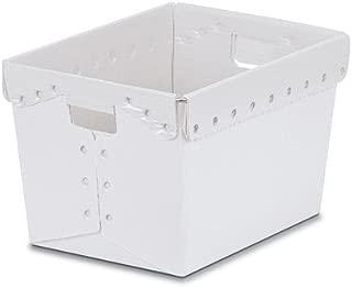 Natural Corrugated Plastic Nesting Tote Container - 18-1/4
