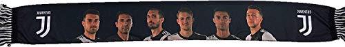 Perseo Trade Schal Polyester Juventus Spielzeug (Cristiano Ronaldo, Buffon, Ramsey, Chiellini, De Ligt, Bernardeschi) Offizielles Produkt