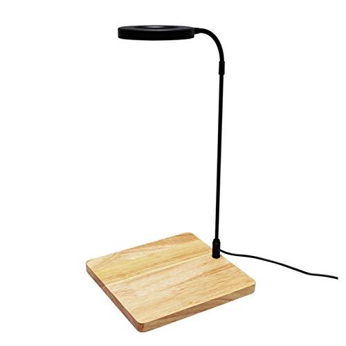 Luz LED para acuario de 10 W de espectro completo con tablero de bambú Nano Fish Tank Light USB Powered Bett a Fish Tank Light para plantas en maceta, suculentas, paisaje en miniatura