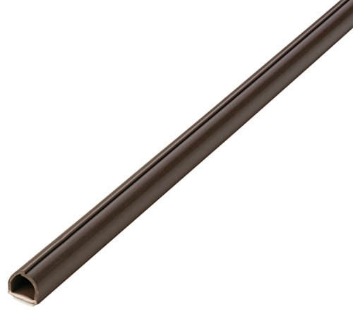 2201.oV Kabelkanal - 4 Stück je 100 x 1,1 x 1,0 cm (L/B/H) - selbstklebend (braun)