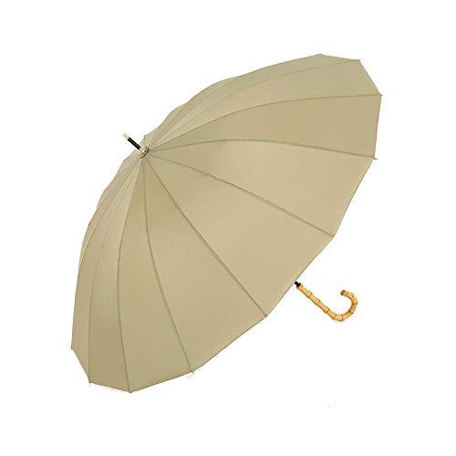 Lanker - KS08P Paraguas grande que se abre y se cierra de forma manual con 16 varillas, duradero y resistente con fibra 210T impermeable, resistente al viento verde Verde