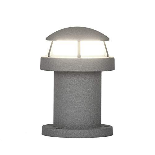 Topmo-plus Gartenleuchte wegeleuchte Modern Stehleuchte grau Außenlampe wegelampe design Aluminium/ 7W LED bridgelux COB/Garten wegeleuchte Stehleuchte Promenade/Pfad (20CM 9W naturweiß)