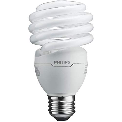 Philips T2 Spiral CFL Light Bulb: 6500K, 100-Watt, Daylight, E26...